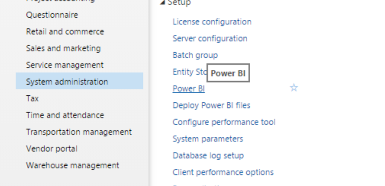 System administration menu option in dynamics ax7 (Dynamics 365 for Operations)