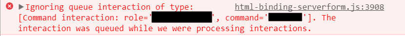 Call will not execute during an intreaction
