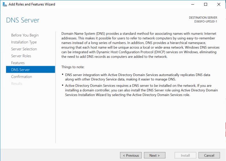 DNS Server Install