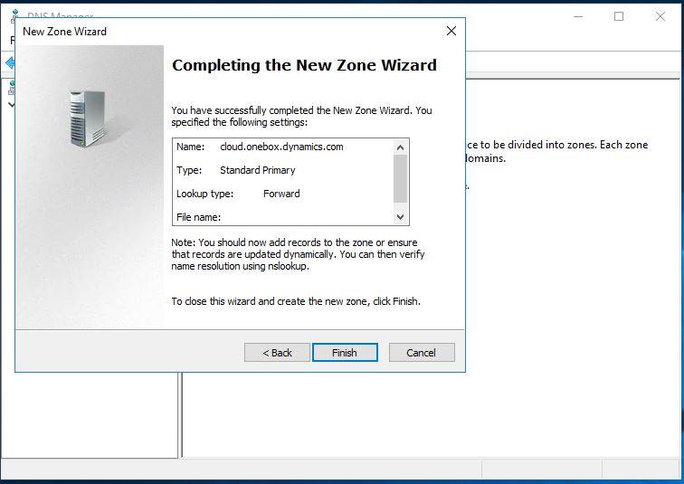 New Zone Wizard