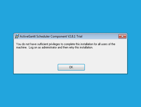 """Error: """"You do not have sufficient privileges to complete this installation for all users of the machine"""""""
